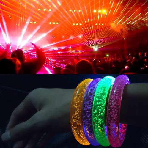 Light-up flashing bubble bracelets - so cool
