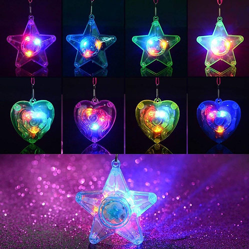 Colorful LED Sparkle Plastic Necklace and Shining Pendants