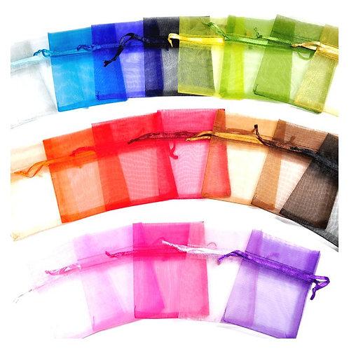 Organza Bags Rainbow 25pack 7 x 9cm