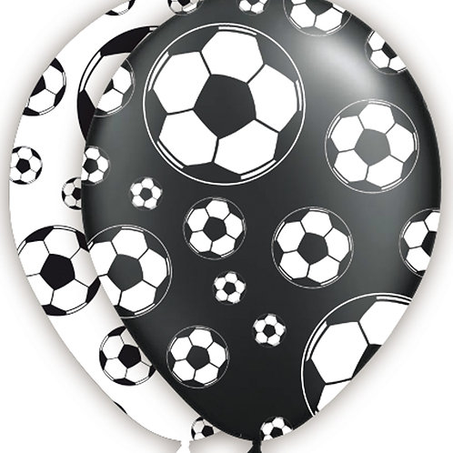 Football black and white latex balloons - 8 pack