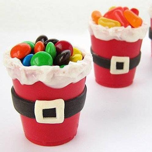 Edible chocolate Santa bucket + sweets