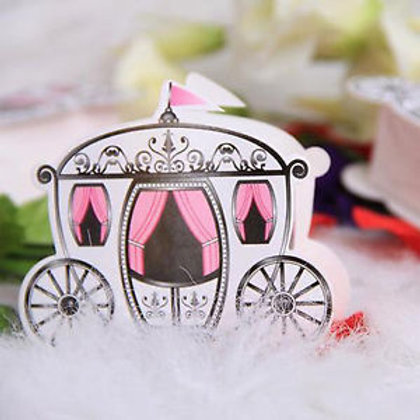 Princess Cinderella carriage favour boxes - pkt 10