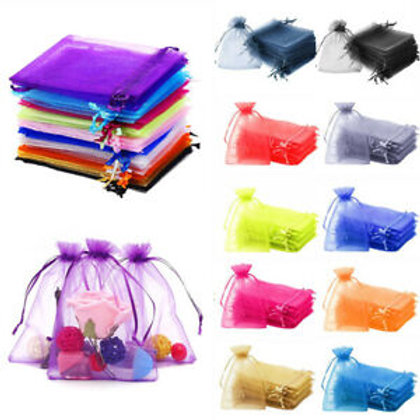 Organza Bags single bags  - 22 colours  - 7 x 9cm