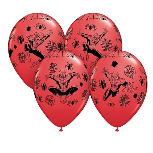 "Superman latex 12"" balloons - 6 pack red"