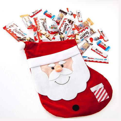 Pre-filled Santa Stocking  - kinder choc selection
