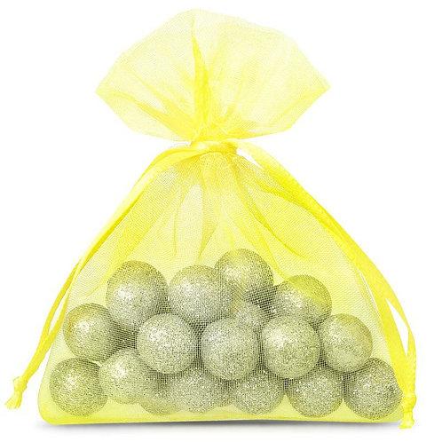 Organza bags 7 x 9 cm –  yellow