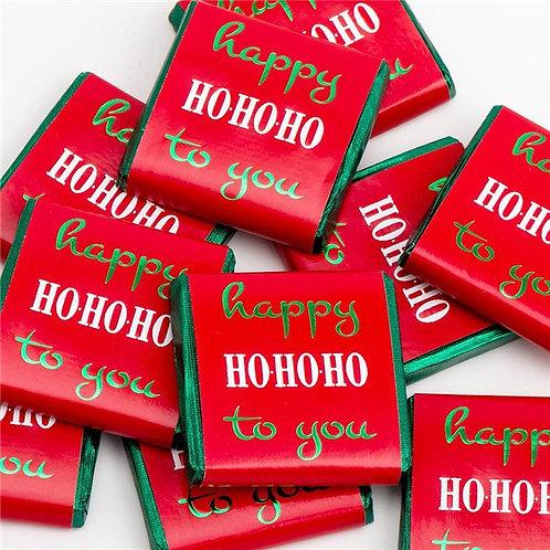 'happy Ho Ho Ho to you' Chocolate Neapolitans