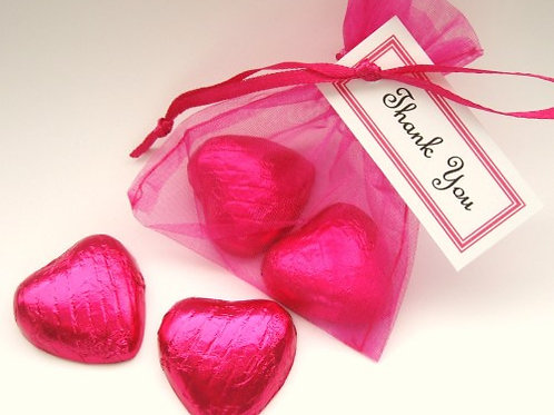 Organza bags 7 x 9 cm –  hot pink