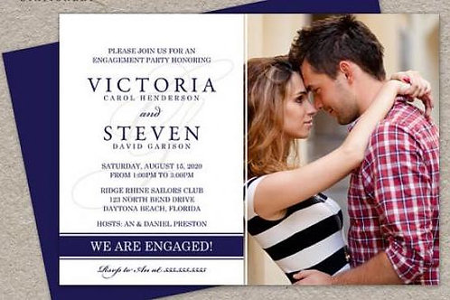 20 Photo Engagement Invites + free matching envelopes