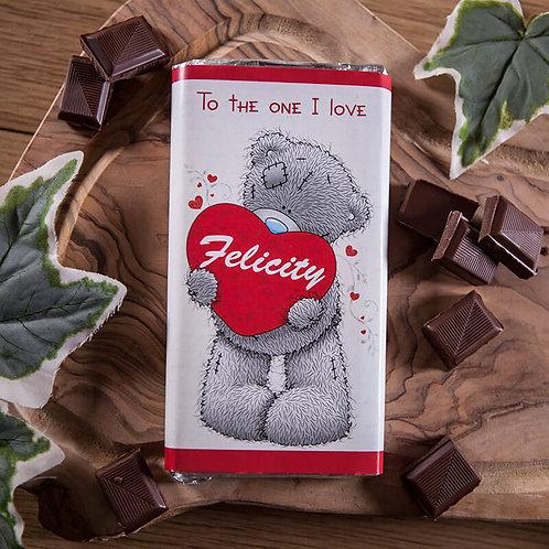 Adorable Tatty Teddy Personalised Milk Chocolate 100g Bar