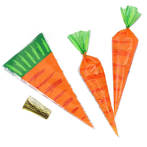 Easter Carrot Candy Bags - 6 pack