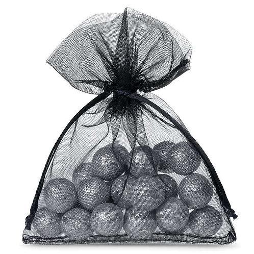 Organza bags 7 x 9 cm – black