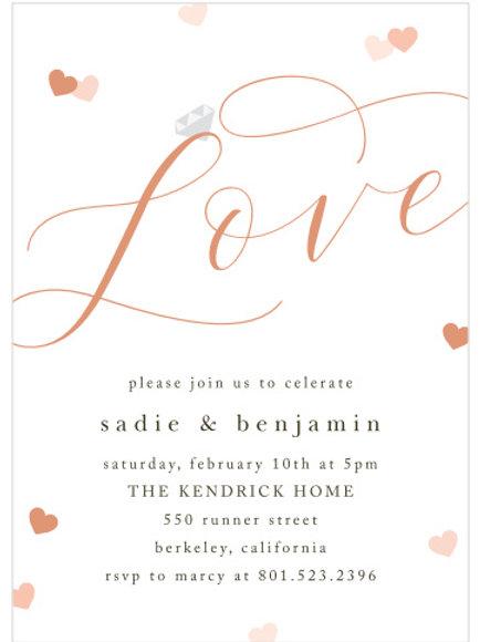 Cupids Love Engagement invites.