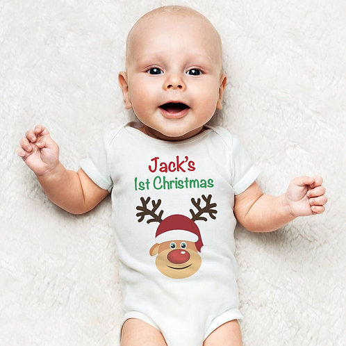 my 1st Christmas personalised baby vest boy/girl