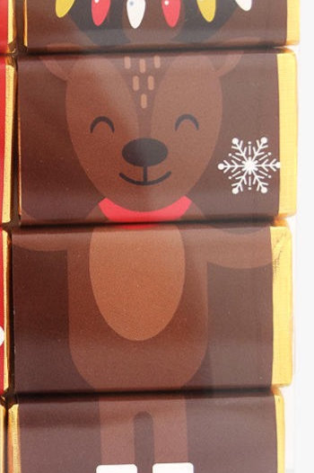 Reindeer Christmas Chocolate Slims - set of 4 chocolates