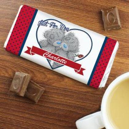 Personalised chocolate bar - Tatty Teddy