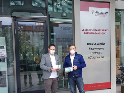 Mask donation for the hospital in Potsdam