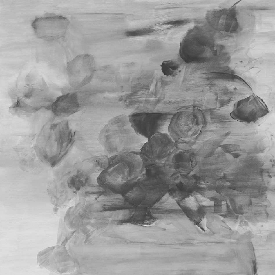 Black Flowers, Ghostly Progress, 2018, 36 x 36