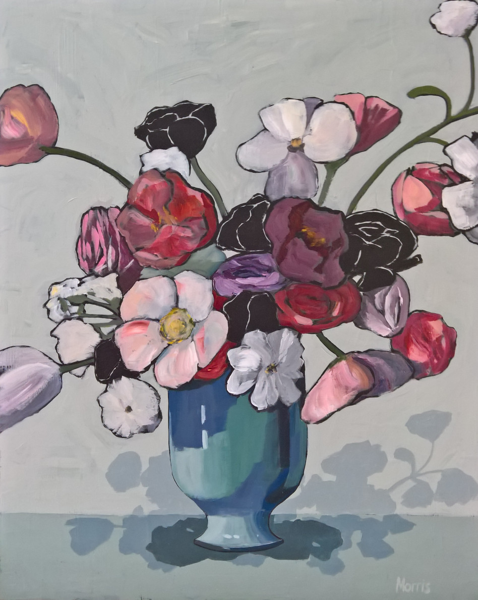 Spring, acrylic on panel, 20x16
