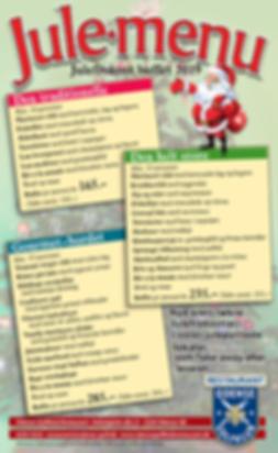 Jule menu