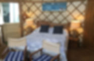 Beach yurt glamping