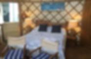 Beach yurt glamping