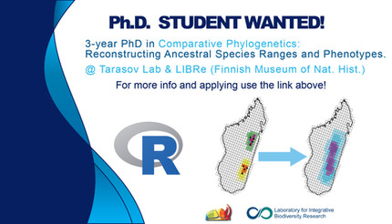 NOW HIRING! Three-year PhD position in comparative phylogenetics! Click the link below for details.