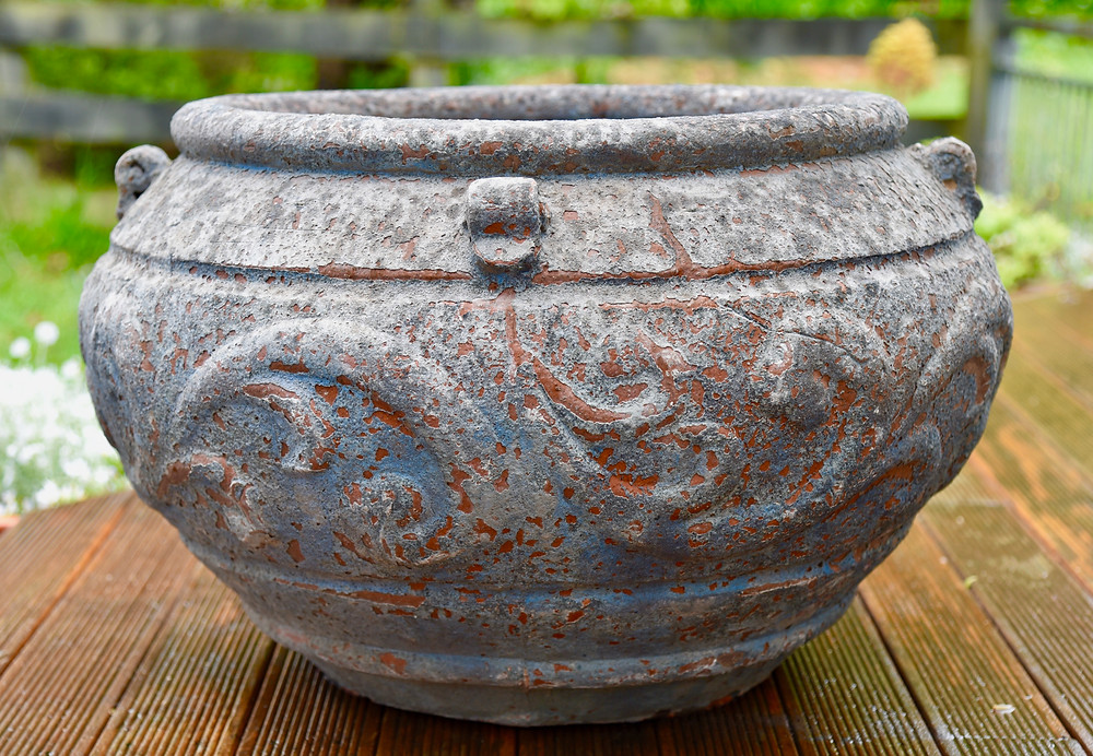 Garland Urn by 4 Seas Ceramics