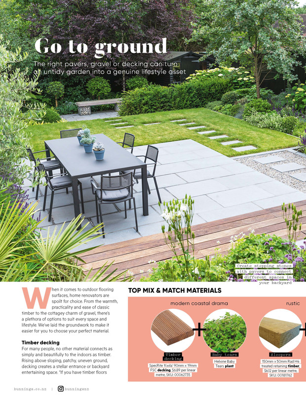 Surfaces for your outdoor room