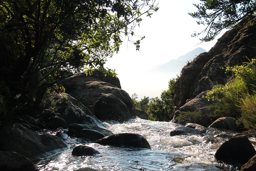 River in a mountain pass