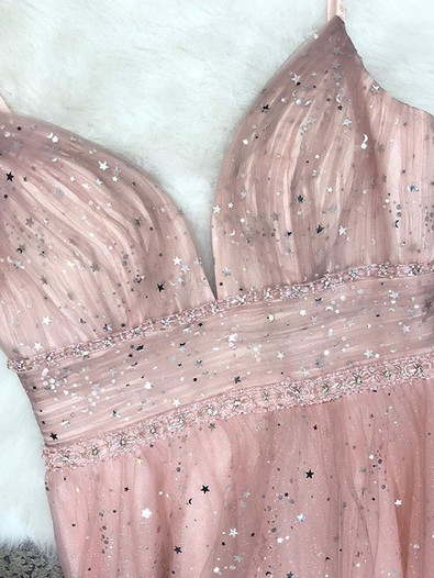 Sparkly and Pink Prom Dress