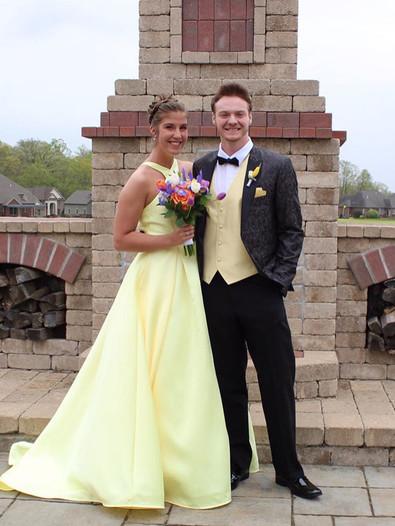 Stunning Yellow Prom Dress