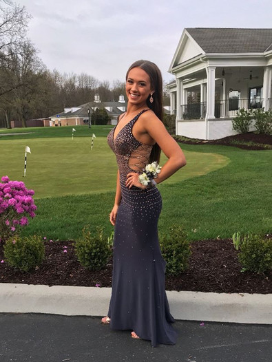 Beautiful fit and flare Prom Dress