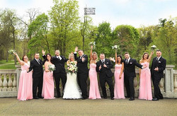 Real #Evalinesbride Amanda with her bridal party!