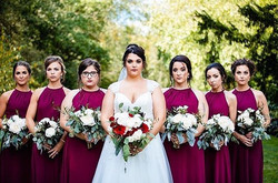 #Evalinesbride Alina with her beautiful bridal party!