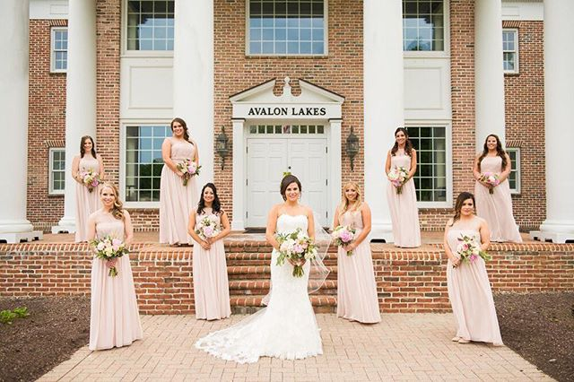 Elegant, blush bridesmaids dresses for a real spring wedding!