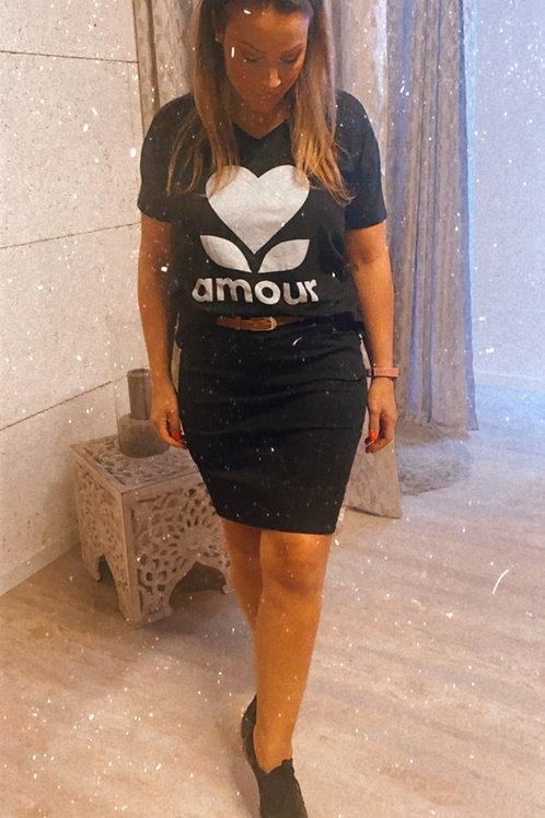 T shirt amour col V