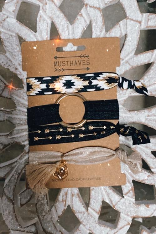 4 élastiques chouchous et bracelets