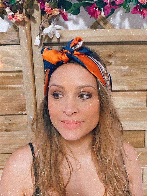 Foulard bleu/orange