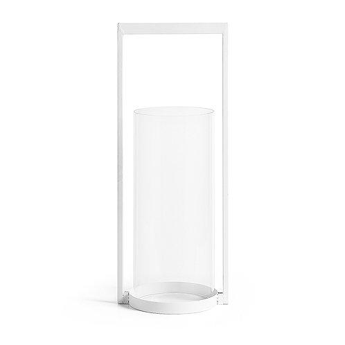 Veleiro metálico branco e vidro