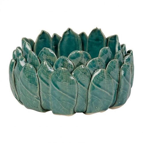 Tacinha azul com D15.5 x H7 cm