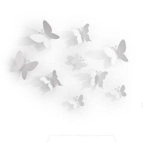 Borboletas brancas - decoração de parede