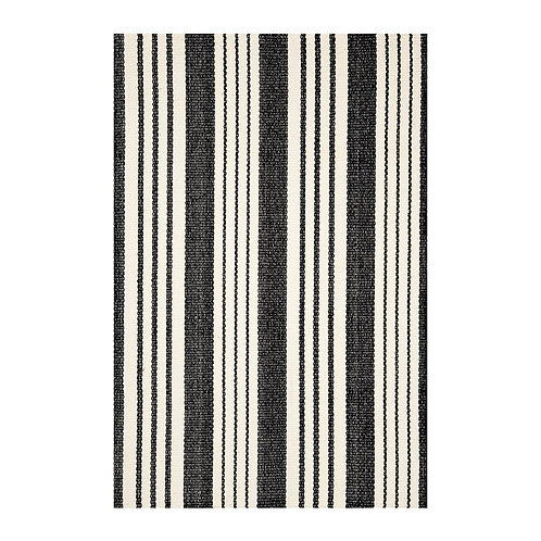 Tapete cotton woven, preto e branco