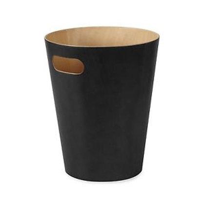 Papeleira madeira e preto