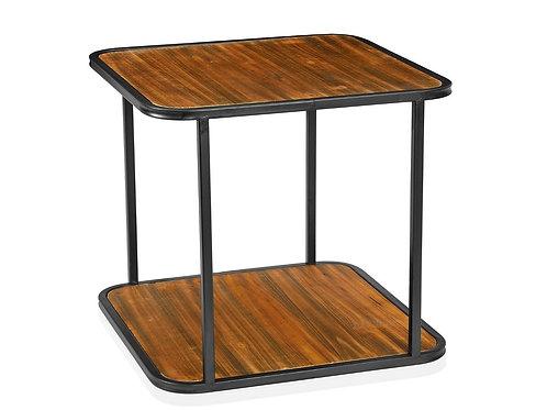 Mesa de apoio madeira e metal