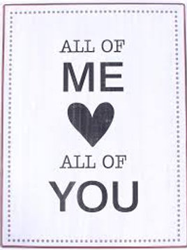 Placa metálica - All of me love all of you