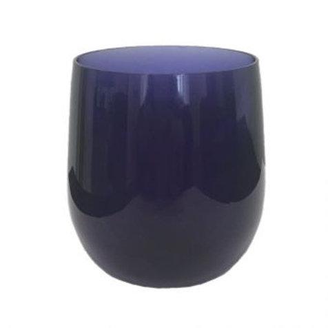 Set 6 copos azuis em acrilico