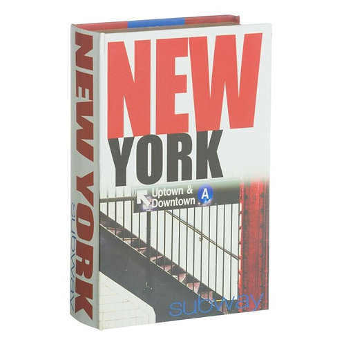 Cx livro New York, com 27x27x7cm