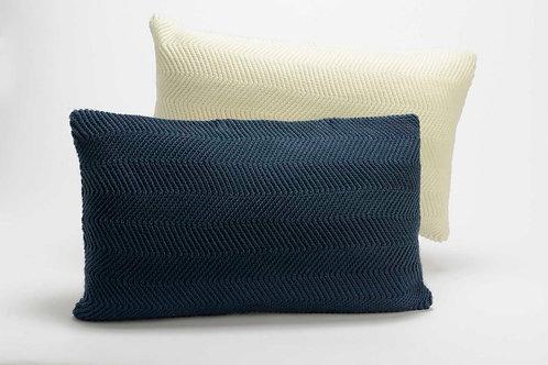 Almofada (surtido) azul e branca com 30x50 cm