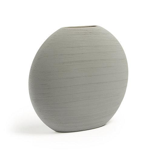 Jarra cerâmica cinza clara com 32 cm